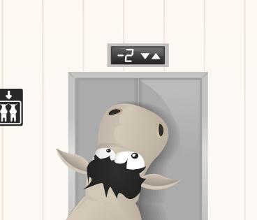 Zozor prend l'ascenseur