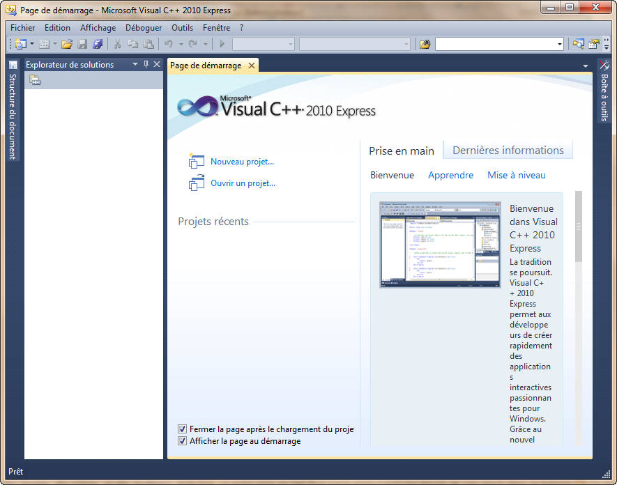 Aperçu de Visual C++