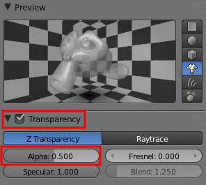 Paramétrer la transparence d'un objet