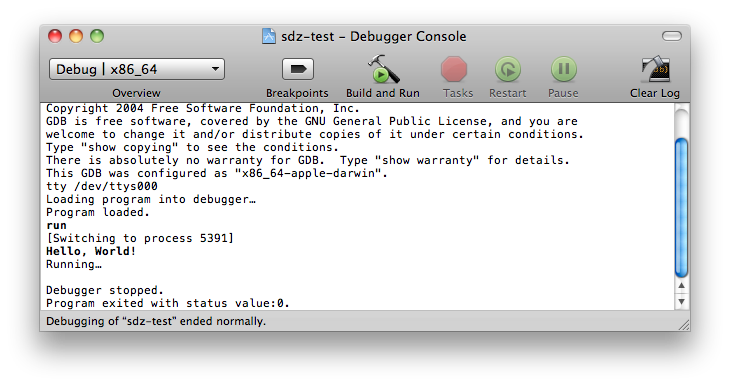 Compilation sous Xcode