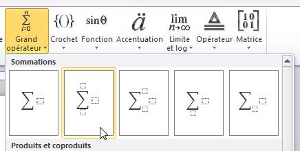 Insertion d'un Sigma