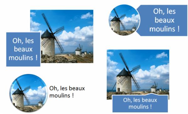 L'icône Disposition d'image donne accès à des effets très intéressants