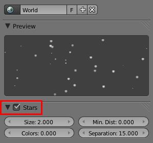 Le module Stars permet de générer des étoiles brillantes au rendu