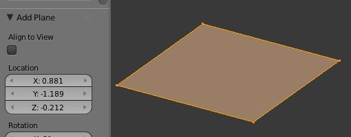 Un plan contient quatre points, quatre arêtes, une face