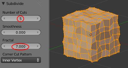 Le cube après augmentation de Fractal