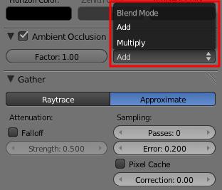 Les paramètres Add et Multiply