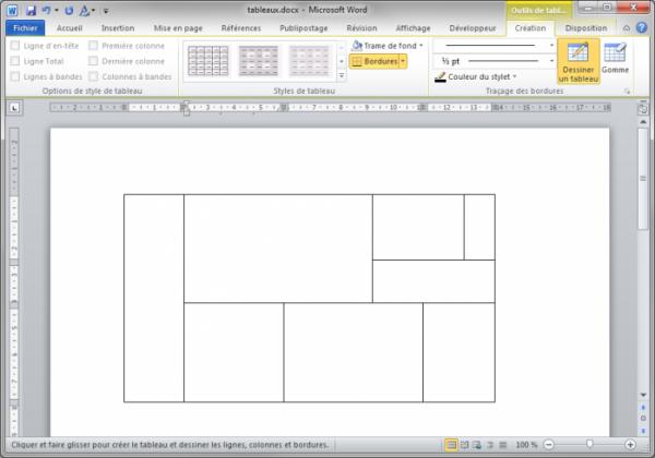 les tableaux dans word r digez facilement des documents avec word openclassrooms. Black Bedroom Furniture Sets. Home Design Ideas