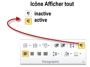 Selon son état, l'icône Afficher tout affiche ou dissimule les entrées d'index