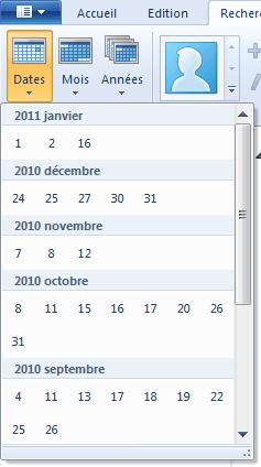 Filtre par dates