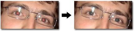 Correction des yeux rouges