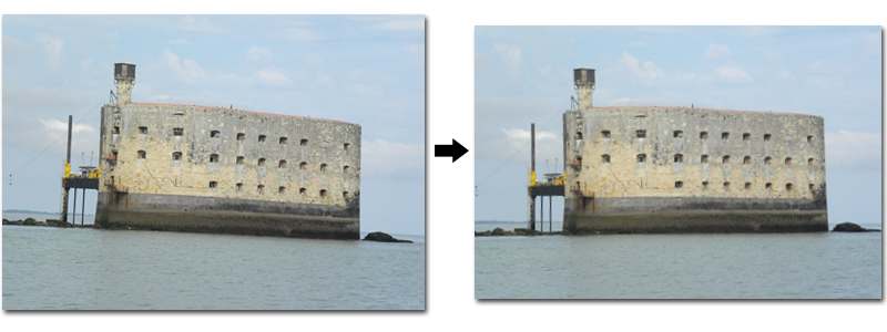 Fort Boyard redressé