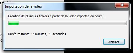 Importer la vidéo 3