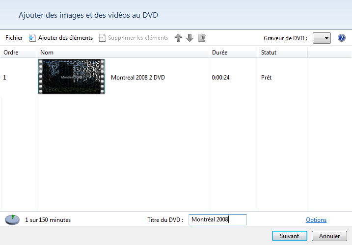 Création de DVD 1