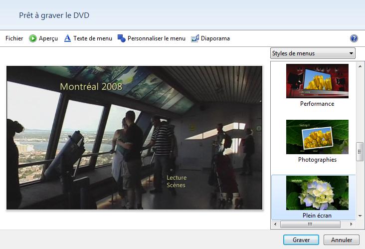 Création de DVD 2