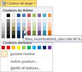 Définition de la couleur d'arrière-plan de la page