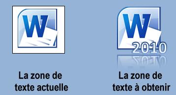 L'icône de Word n'a pas encore son aspect final