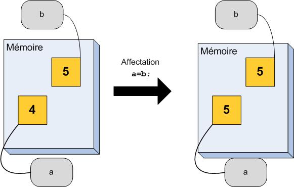 Affectation d'une variable à une autre