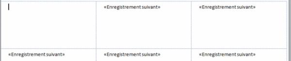 Le fichier de données a été relié au document de base