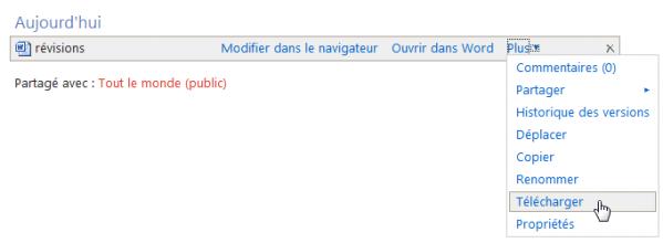 Cette commande permet au correcteur de télécharger le document