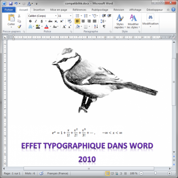 Le document Word 2010
