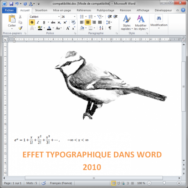 Le document a été converti au format Word 97-2003