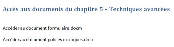 Le texte utilisé pour accéder aux deux documents