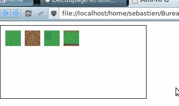 Résultat de l'affichage des tiles 1, 5, 6 et 7