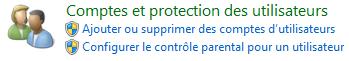 Comptes et protection des utilisateurs
