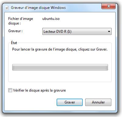 Graveur d'image disque Windows