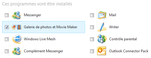 Installation de la suite Windows Live