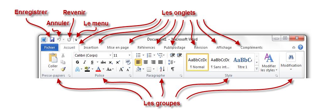 Word le logiciel de traitement de texte traitez des for Fenetre word 2013