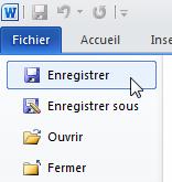 Fichier → Enregistrer