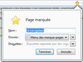 Marquer une page