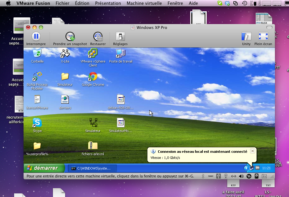 Windows sous mac os