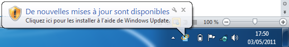 Notification de Windows Update