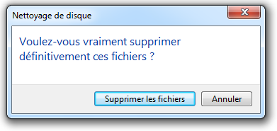 Valider la suppression
