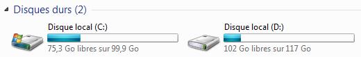 Deux disques durs dans Ordinateur