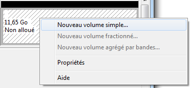 Nouveau volume simple