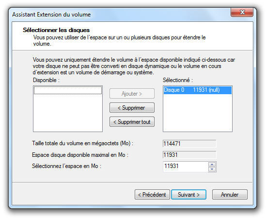 Assistant extension volume