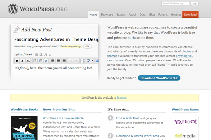 Site web de Wordpress