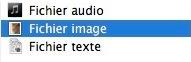 Différents types de fichiers