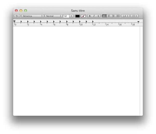 Nouveau document TextEdit