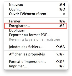 Enregistrer un document dans TextEdit