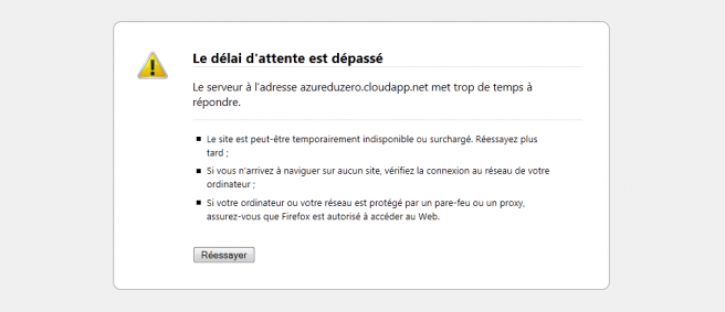 Windows Azure Companion ne fonctionne pas sur le port 80
