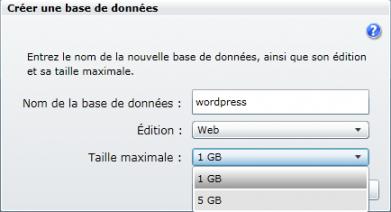 Créer une base de données SQL Azure