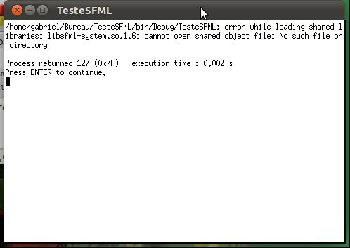 SFML avec Linux, avec Code blocks par sephirotte - OpenClassrooms