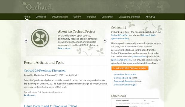 Site web de Orchard