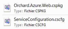 Fichiers du package Orchard pour Windows Azure