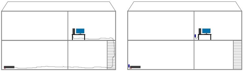 Maison sans CPL à gauche, maison avec CPL à droite