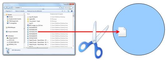 Lors de la suppression d'un fichier, seule son adresse sur le disque est perdue, mais pas le fichier lui-même